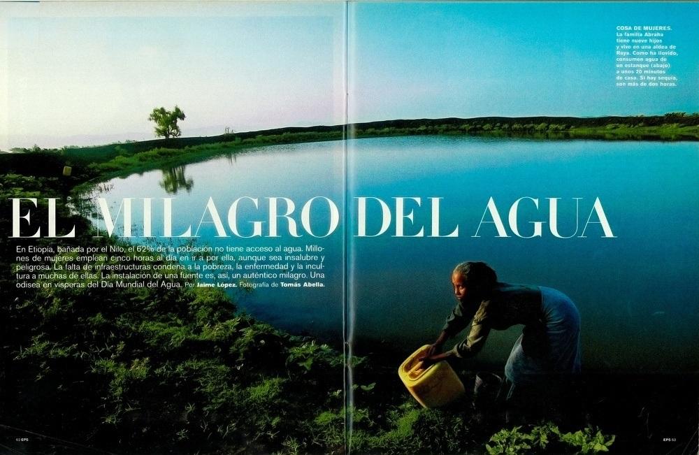 """El País Semanal """"El Milagro del Agua"""""""